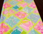 Lilly Pulitzer tile fabric - Sugartown Worldwide Inc. spring 2002