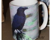 Crow Large Coffee Mug 15 Oz