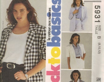 McCall's Sewing Pattern 5931 - Misses' Jacket (8-12)