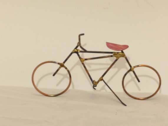 BICYCLE: THE MOUNTAIN bike,copper,steel,bike sculpture,home decor,collectable
