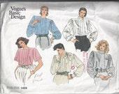 Vogue Basic Design  1424 Misses Blouse Pattern Size 14