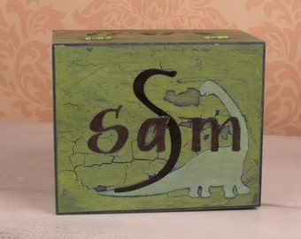 Personalized Storage Box for Boys Dinosaurs, RB/TR