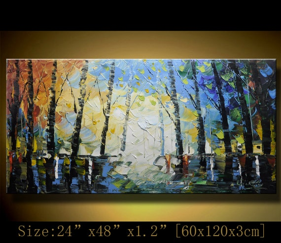 Original Abstract Painting, Modern Textured Painting, Palette Knife,Home Decor,Painting Oil on Canvas by Chen 0140