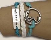 Personalized bracelet,mermaid bracelet.95.