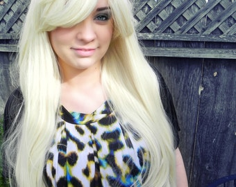 Blonde / Long Straight Layered Wig Extra Thick Wavy