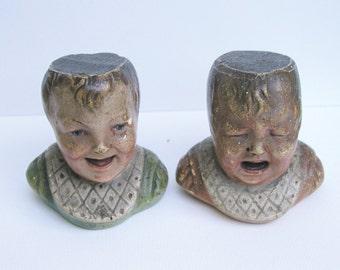 2 Plâtres polychromes anciens