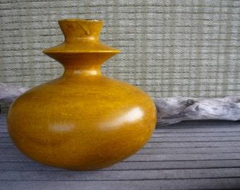 Vintage Canadian Art Pottery Vase, Contemporary Home Decor, Bright Yellow Vase