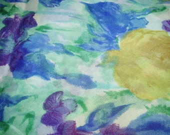 Blue floral fabric from Japan.