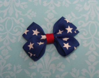 Toddler Hair Bows, Girls Hair Bow, Fourth of July Hair Bow, Red White and Blue Hair Bows, Hair Accessories
