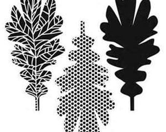 Stencil Template, Pattern Leaves Pattern,  6x6,  Crafter's Workshop