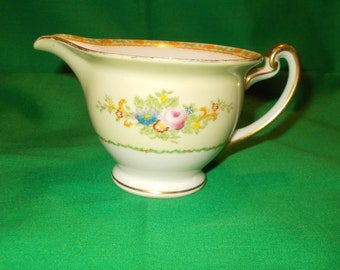 One (1), Porcelain, Hand Painted, 8 oz. Creamer, from Meito China, in the MEI 497 Pattern.