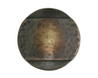 2 Banded 7/8 inch ( 23 mm ) Metal Buttons Brass Color