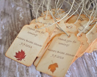 Fall Favor Tags Wedding Tags For Bags Favors Autumn