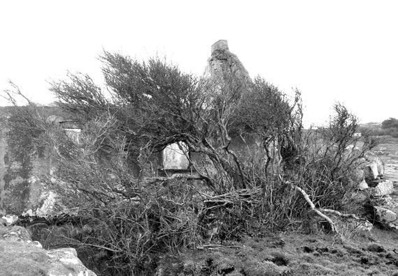 "Ireland Fine Art Black and White Photograph of an Abandoned Connemara Cottage 18"" x 12"""