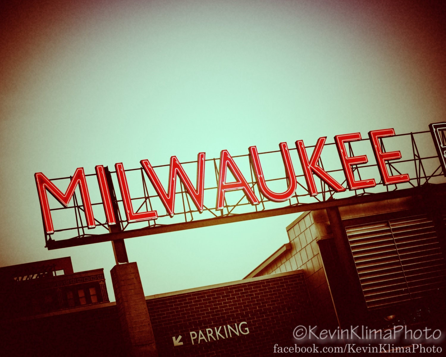 Milwaukee Art Photography Print Neon Sign By Kevinklimaphoto