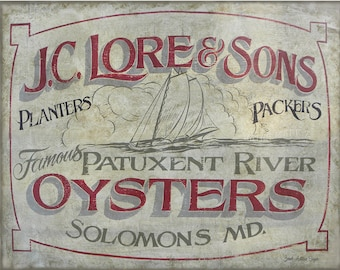 J.C.Lore & Sons Oyster Print
