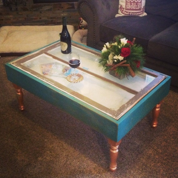 Items Similar To Repurposed Window Shadow Box Coffee Table On Etsy