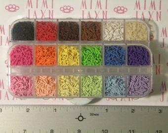 3g 1mm Polymer Clay Sprinkles-Color Options