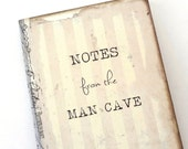 Man Cave Journal, Gift for Him, Gag Gift, Bachelor Party Favors, Mens Pocketbook, Jotter, Man Cave Decor, Father's Day Gift