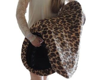 Fleece Saddle Cover Leopard english saddle cover