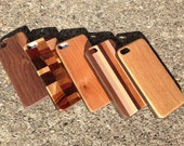 Real Hardwood iphone case for iPhone 5 and 4 and 4s