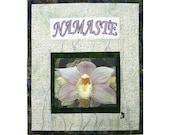 Mini Quilt  Wall Hanging Art Quilt Under 30 Namaste