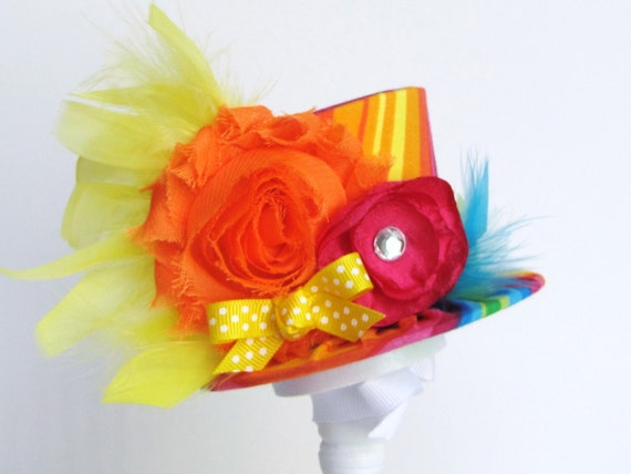 Mini Top Hat Headband, Alice in Wonderland themed Tea Party, CITRUS, Birthday, Costume, Photo Prop, Gift from Truly Sweet Circus