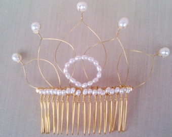 Pearl Crown Hair Fascinator
