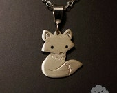 Sterling Silver Miho the Fox Pendant