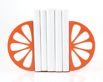 Metal Kitchen Bookends  Orange // functional modern kitchen decor // housewarming present // Christmas gift // FREE SHIPPING WORLDWIDE //