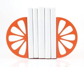 Metal Kitchen Bookends  Orange // functional modern kitchen decor // housewarming present // Christmas gift // FREE SHIPPING WORLDWIDE //