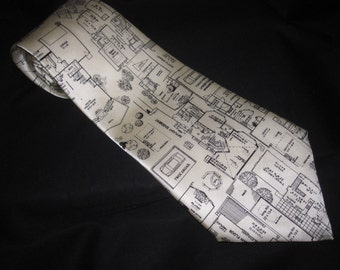 SILK NECKTIE Architect Architecture Floor Plan Floor Design Neck Tie