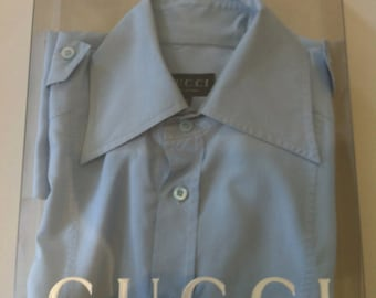 Gucci light sky blue shirt