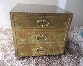 Sold  Hollywood Regency Sarreid Brass end table Sold Sold