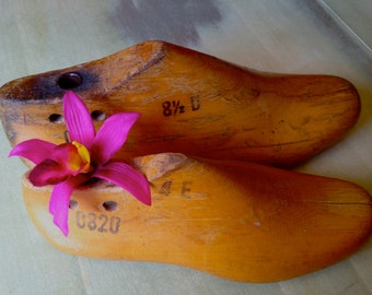 Wooden Shoe Forms  - Vintage - Avant Garde And Rustic Decor