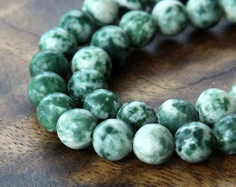 Tree Agate Bead, 8mm Round - 15.5 inch Strand - eGR-TA001-8