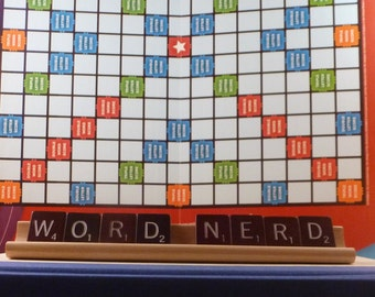 Word Nerd Scrabble Sign or Nameplate, Made to Order