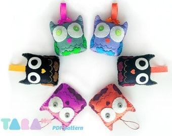 DIY Felt Pattern Owl, Fabric Owl, PDF Sewing Pattern, Instant Download TaraOwl, Felt Animal Tutorial, Animal Pattern, Owl Sewing Toy Pattern