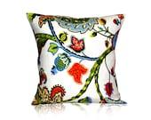 STORE CLOSING SALE Pillow cover sofa pillow decorative pillow Wilmington Multicolor Jacobean Designer Pillow Cover  18x18 inches