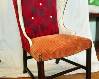Circa '50's Armless Wingback Chair  *SOLD*