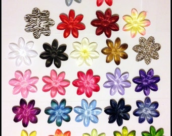 """100 Tropical Lily Flower Petals-3.5""""-for crafts, hair bows, weddings, parties, etc."""