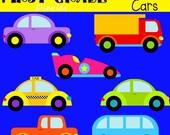 Cruisin' Cars Digital Clip Art Trucks Vans -- Buy 2 GET 1 FREE