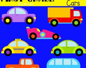 Cruisin' Cars Digital Clip Art Trucks Vans -- Buy 2 GET 1 FREE