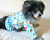 Small Canine's Pajamas Flannel Poky Little Puppy Print - Made to Order Multicolored for Pomeranian Size