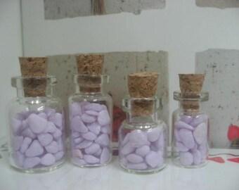 Miniature Glass bottles for 1/12 Dollhouse