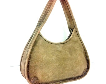 REDUCED~ Super Small Leather Coach Handbag - Mini Tan Coach Bag