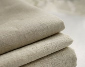 Natural Beige Linen Flax Fabric/ Linen/ Natural Fabric/ Upholstery/ Native Cotton Linen-A half yard 112cm x 45cm - fabricmade