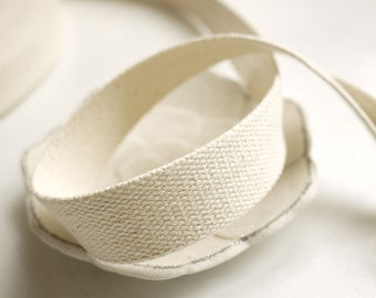 "Cotton bag handle, Natural White Cotton Webbing, Bag supply, tote bag handle, Bag strap Handle, woman,  tote handle- 3 yards 1-1.5"""