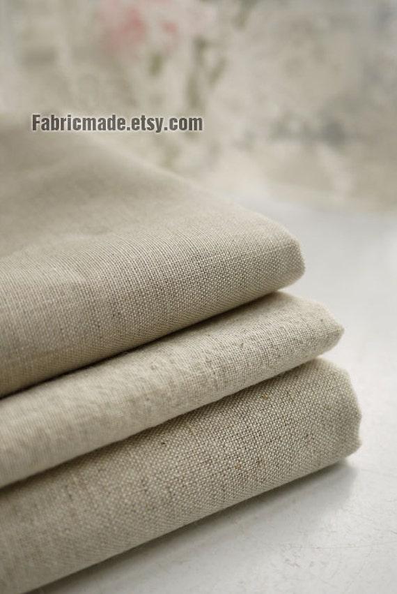 Natural Beige Linen Flax Fabric Linen Natural Fabric