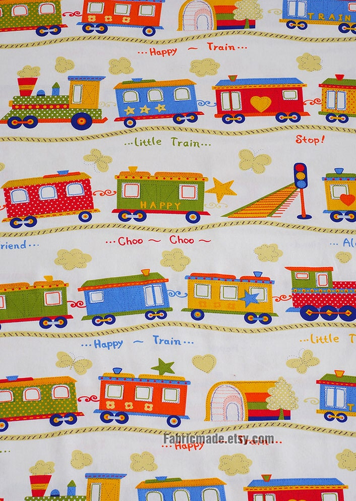 Linen cotton fabric bag curtain clothing fabric kids by for Vintage childrens fabric by the yard